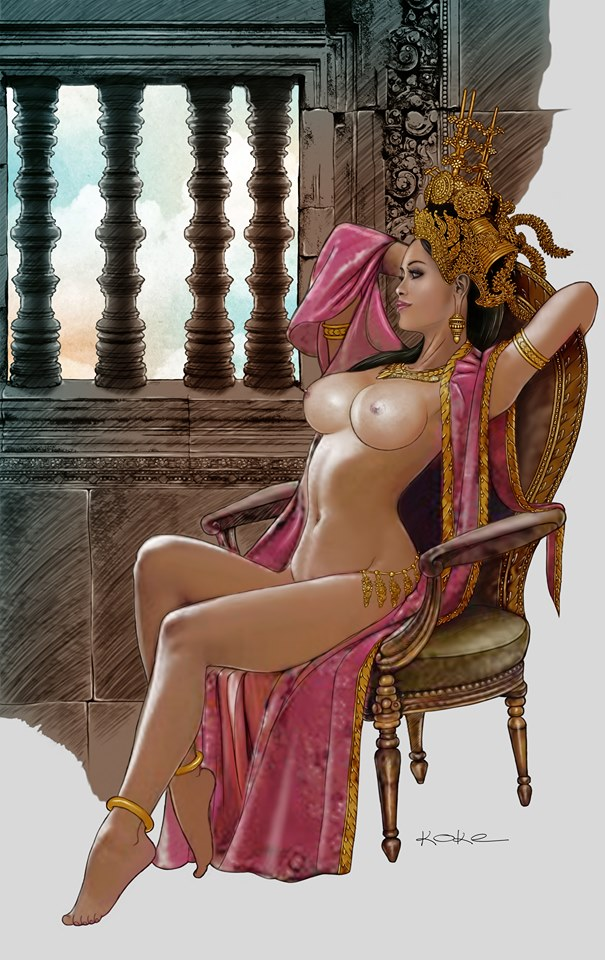 Apsara by the window