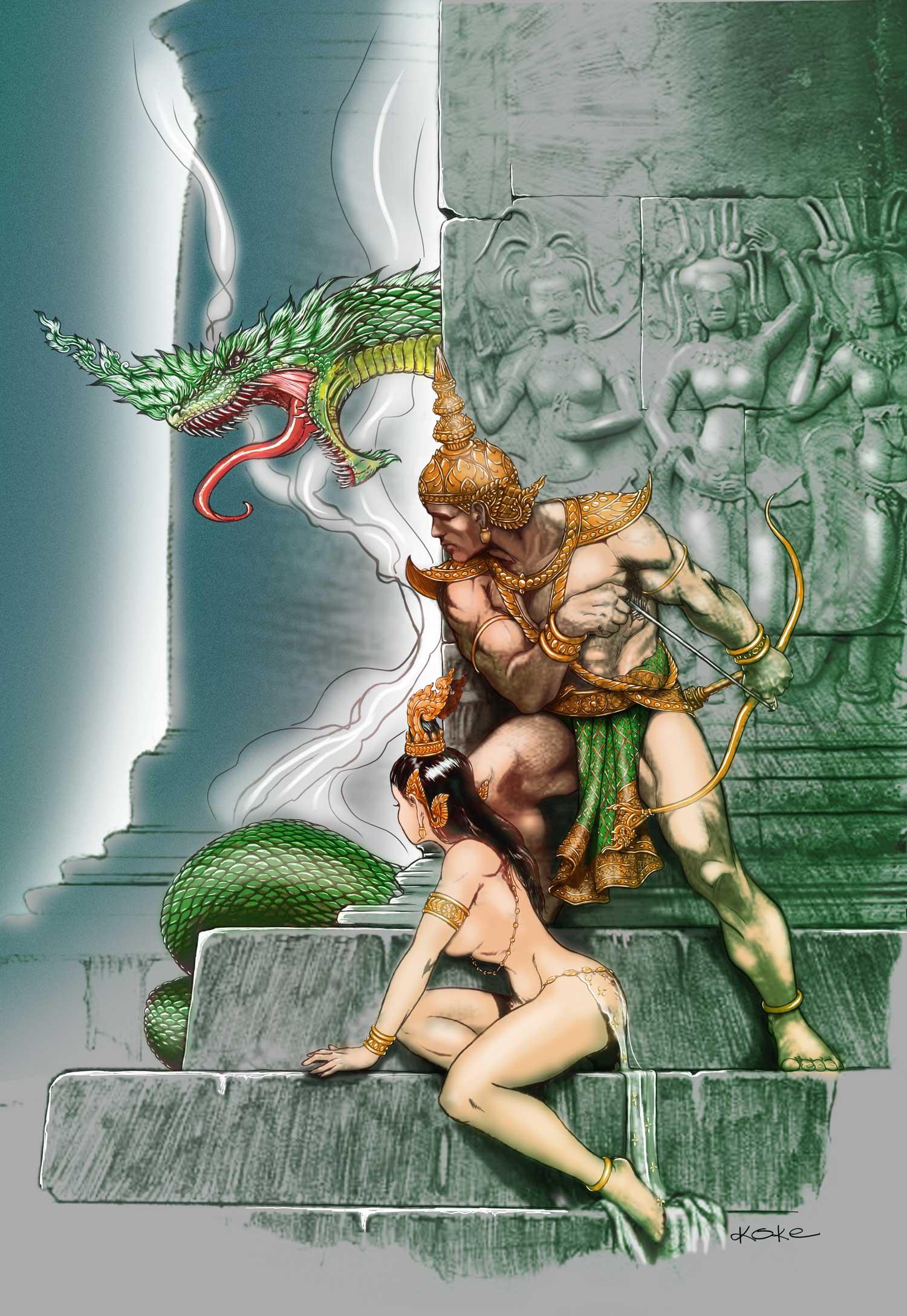 reahu seeking the serpent colored